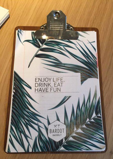 Bardot menu