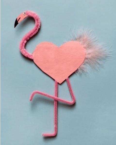 Schattige flamingo