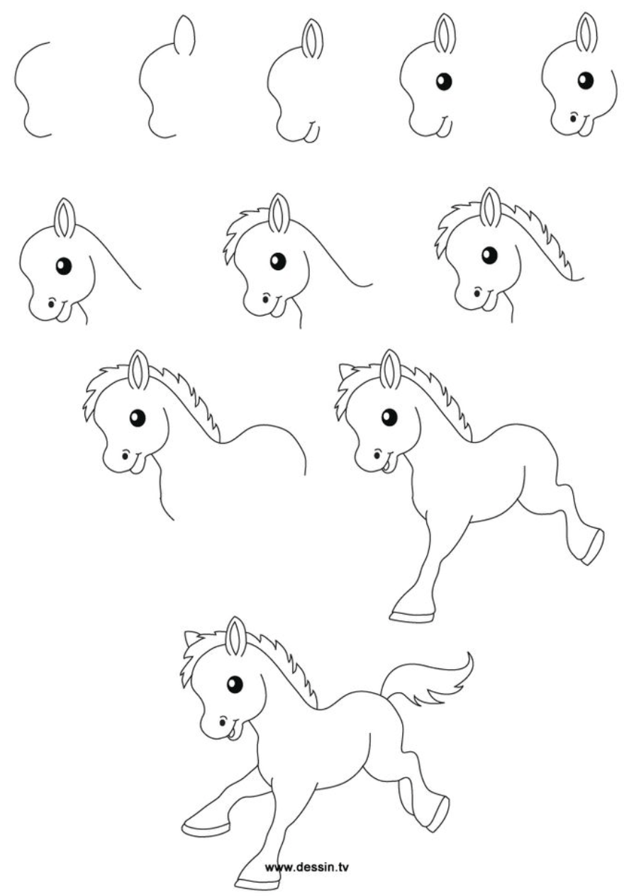 step by step drawing - HD768×1024