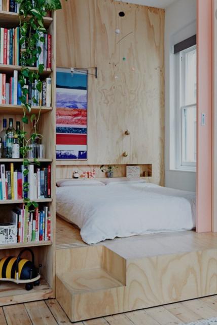 Slaapkamer smalle doorgang