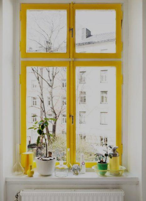 Geel raam