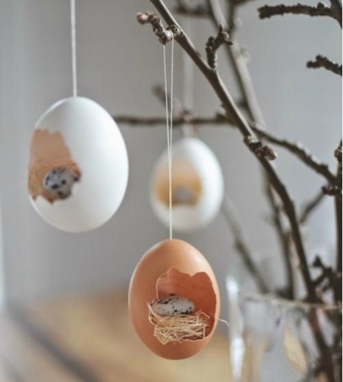 Opgevulde eierschalen