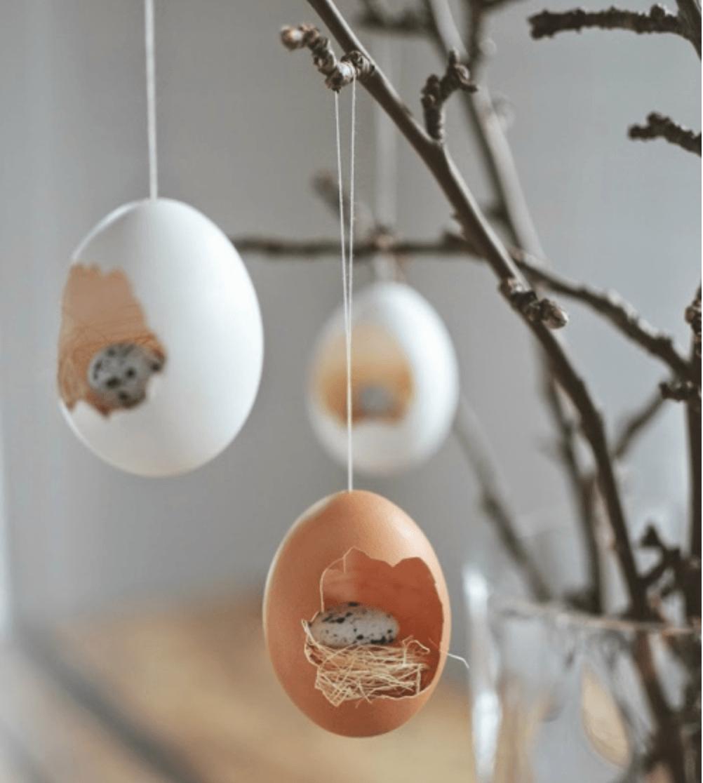 Opgevulde eierschalen_decoratie Pasen