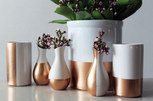 Vazen met een gouden rand