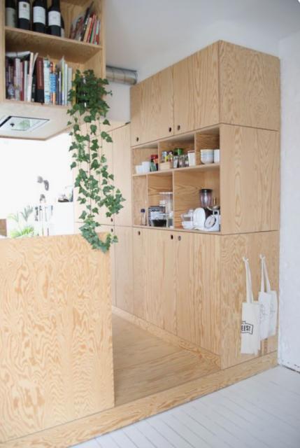 plywood keuken