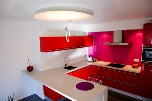 Aparte plafondlamp keuken