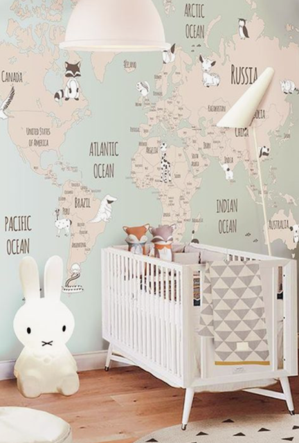 babykamer met behangpapier_5