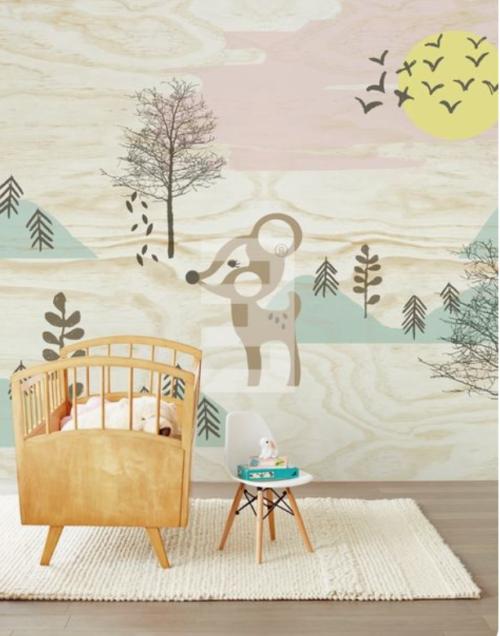 Babykamer met behangpapier_2