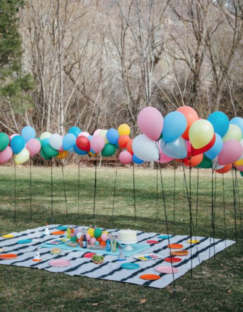 picknick met ballonnen