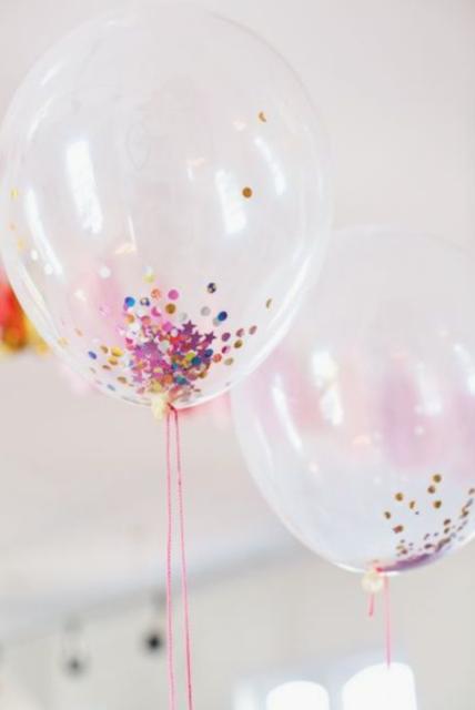ballon met confetti