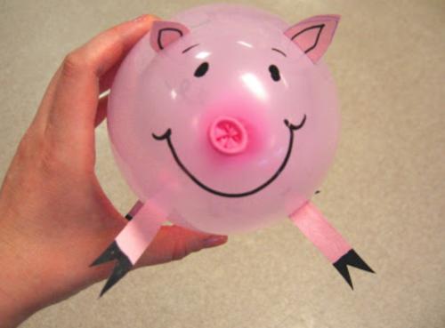 varkentje met ballon