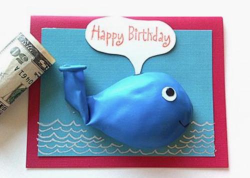 verjaardagskaart met ballon