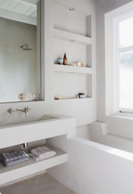 badkamer betonnen nissen