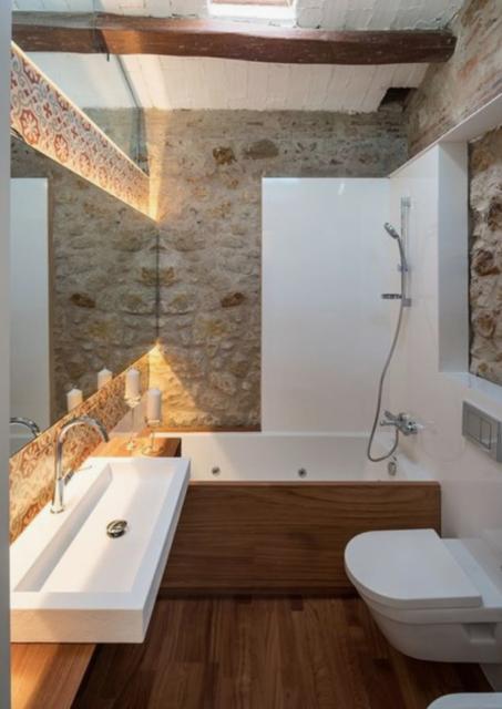 badkamer bad en douche ineen