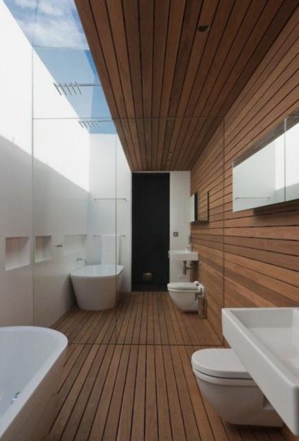 badkamer met spiegelwand