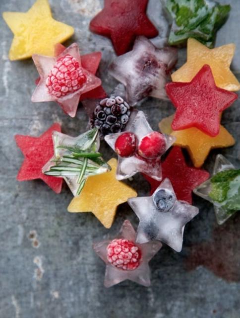 ijsblokjes van fruit en kruiden