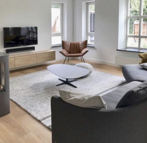 warm interieur met zachte materialen