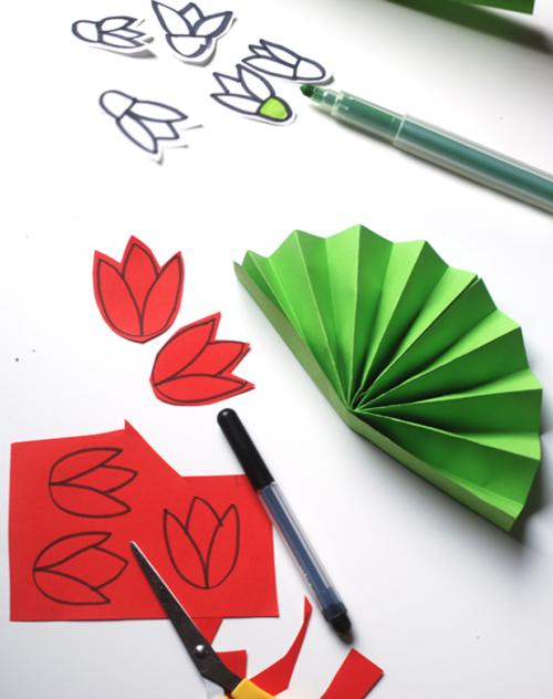 werkbeschrijving bloemenserviette 2