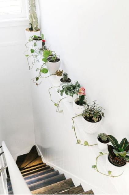 Planten trappenhal