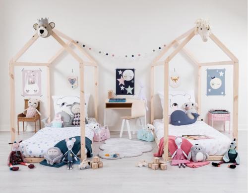 kinderkamer met huisjes