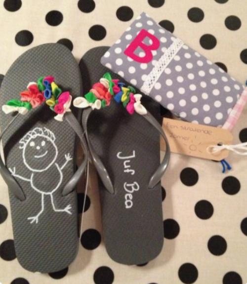 afscheidscadeau juf slippers