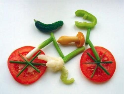 Fiets van groenten