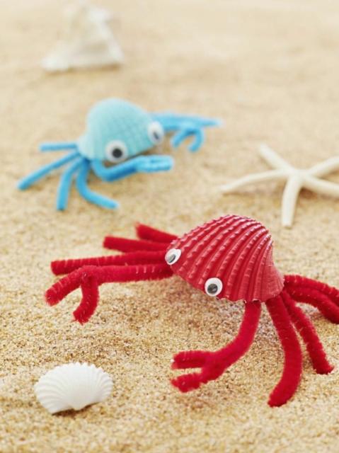 Kleurrijke krabben