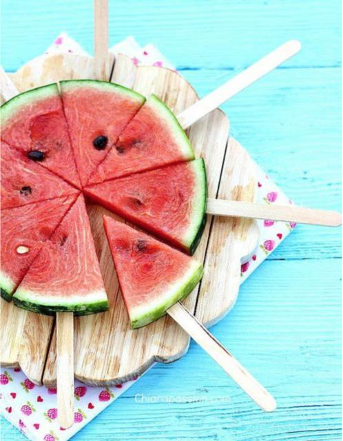 Meloenstokjes