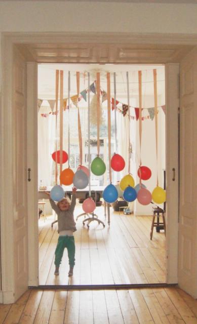 Ballonnen in deuropening