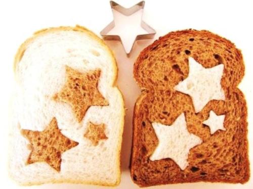 bruin en wit brood gecombineerd