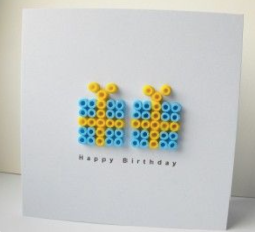 strijkparels verjaardagskaart