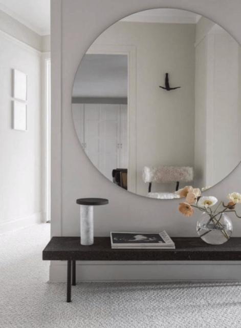 Spiegel zonder rand 100 cm