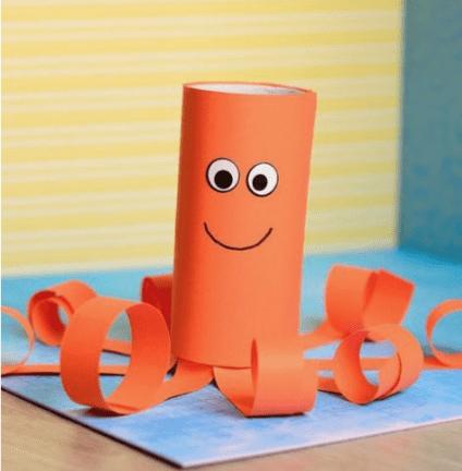 Knutselen met toiletrol_octopus