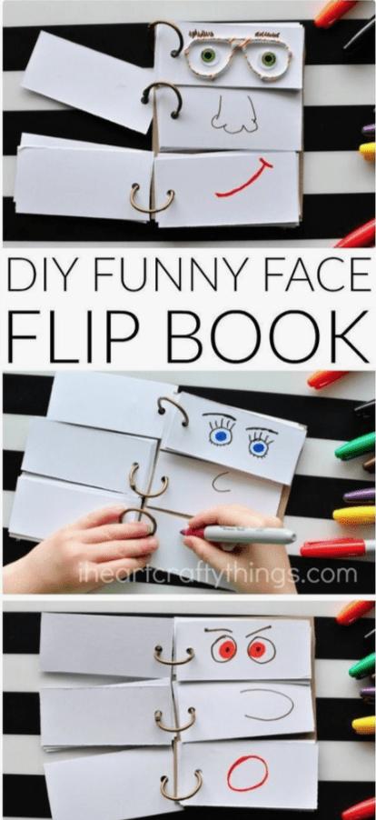 kleuteractiviteiten gezichtenboek knutselen