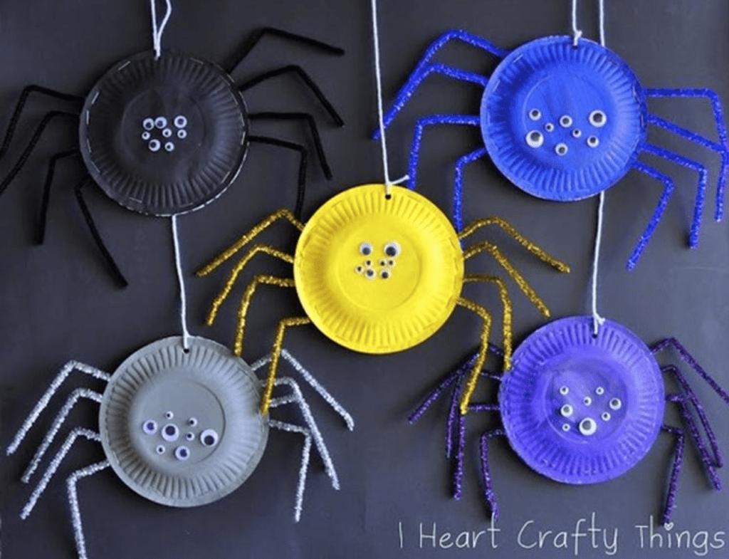 Halloween decoratie spinnen wegwerpbord