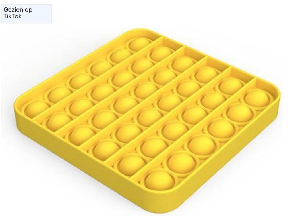 Fidget toy geel