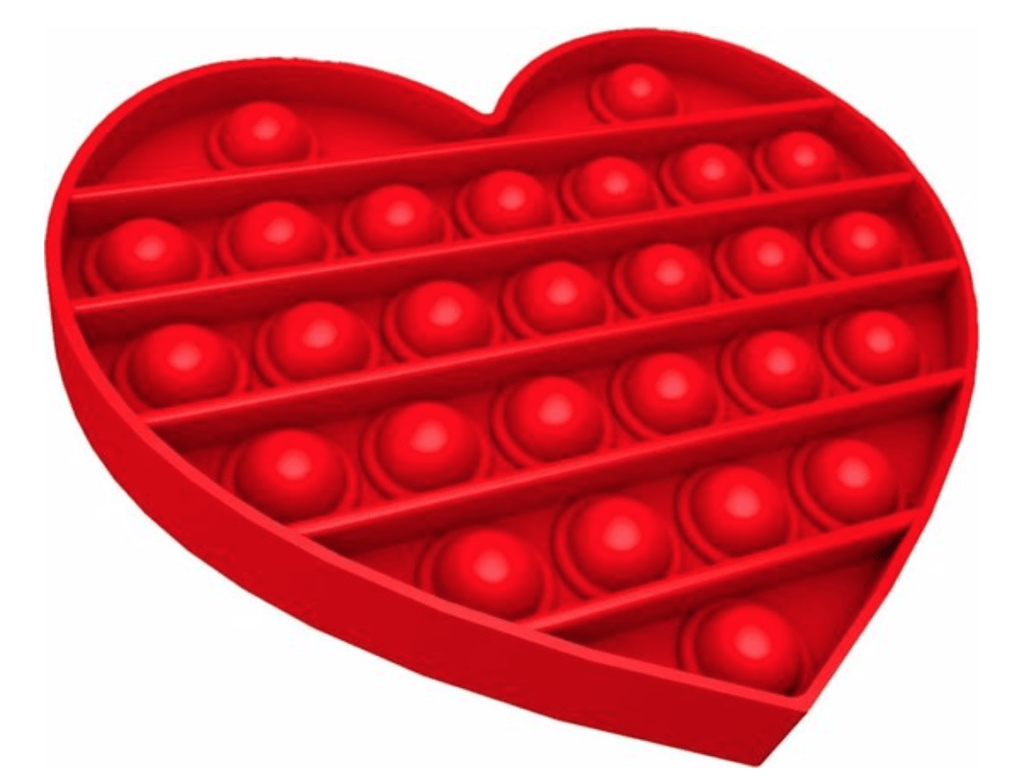 Fidget toy hart rood